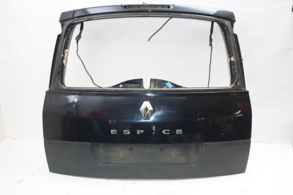 Heckklappe Renault ESPACE 4 JK Blau mit Kratzern ohne Scheibe 05-2004 gebraucht