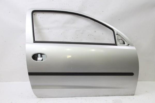 Tür Opel CORSA C rechts 13114688 124566 Silber 06-2001 gebraucht