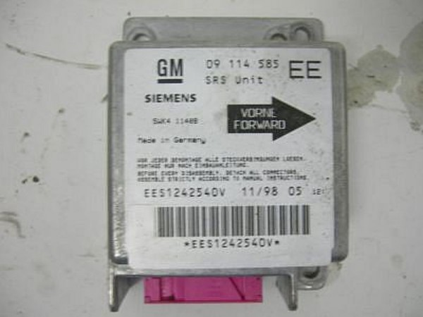 Airbagsteuergerät Opel CORSA B 09114585EE 1.0 04-1998 gebraucht