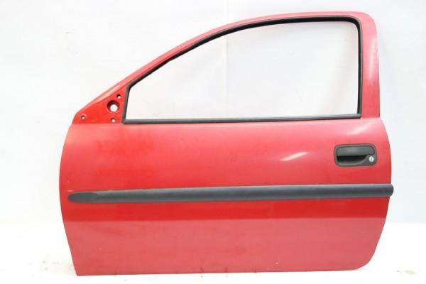 Tür Opel CORSA B links 90535079 124215 Rot 05-2000 gebraucht