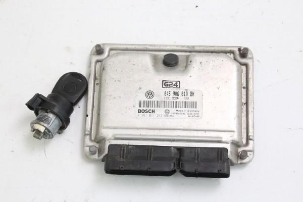 Motorsteuergerät VW POLO 9N 045906019BH mit Zündschloß 0281011242 1.4 55 KW 75 P gebraucht